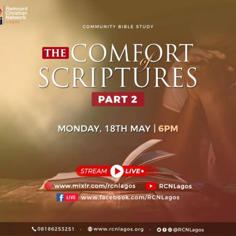 Community Bible Study_ The Comfort of Scriptures With Rev Austin Ukporhe (Part 2)